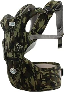 AIEBABY 360° Ergonomic Baby Carrier for Newborn with Hip Seat Front and Back (Camouflage)