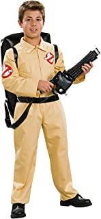 Ghostbuster Deluxe Child's Costume with Blow Up Proton Pack, Medium