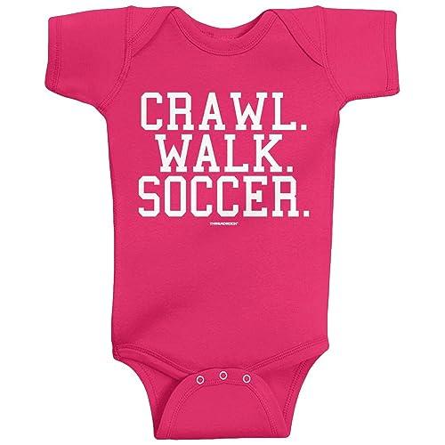 11cd27a8e Threadrock Unisex Baby Crawl Walk Lift Fish Golf Soccer Hockey Infant  Bodysuit