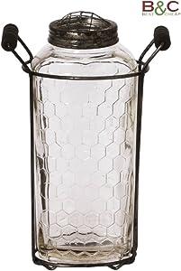 Slim Jarrón portavelas o Jarrón de Cristal–Tamaños Color cm 18x 13x 6