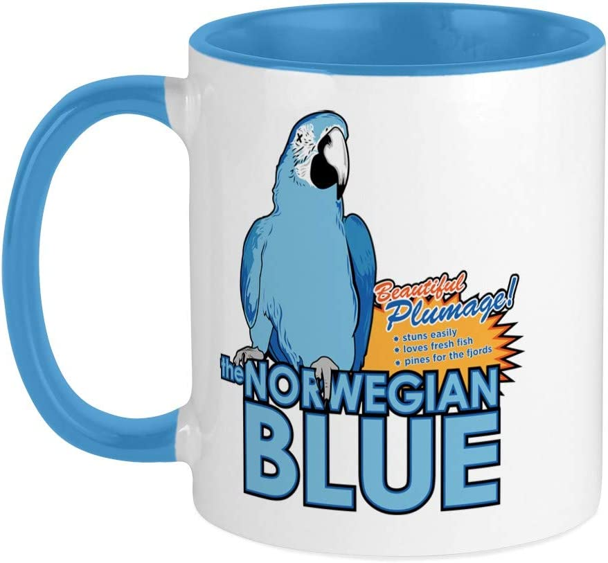 Amazon Com Cafepress Norwegian Blue Mug Unique Coffee Mug Coffee Cup Kitchen Dining