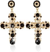 MIsha Pendientes de cruz colgante, Pendientes de moda para mujer, Regalo de san valentin