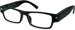 SPEQ Led-leeshulp leesbril zichthulp dames heren met accu en USB-aansluiting, 2 geïntegreerde ledlampjes