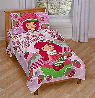 Jay Franco Strawberry Shortcake Sweet Cupcake Toddler Bed Set