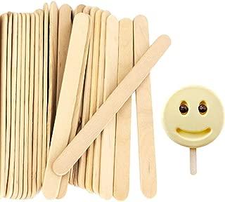 Acerich 200 Pcs Craft Sticks Ice Cream Sticks Wooden Popsicle Sticks 4-1/2