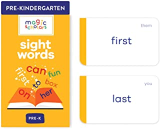Magic Scholars Sight Words Flash Cards Pack (100+ Preschool, Kindergarten, 1st, 2nd & 3rd Grade Sight Words) Dolch Fry Hig...