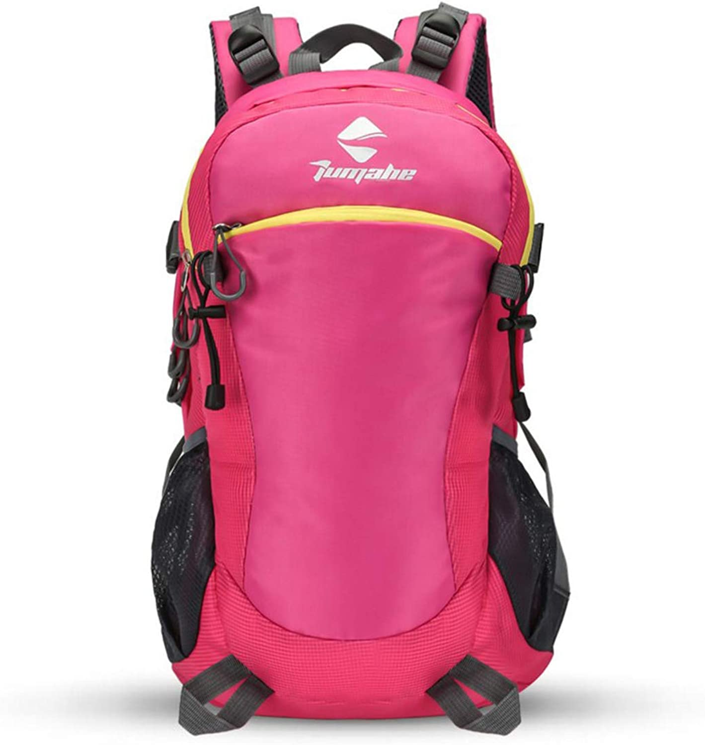 MAGAI Multifunctional Waterproof Oxford Cloth Mountaineering Bag (color   pink red)