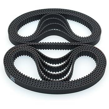 2m belt 6mm width kit for 3d printer reprap SU 2Pcs gt2 timing pulley 20t 5//8mm