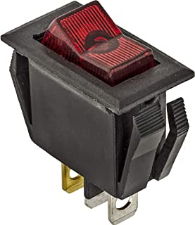 Clipsandfasteners Inc Illuminated Rocker Switch Red