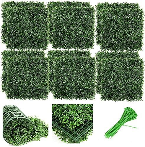EIIDJFF Artificial Pantalla Valla de privacidad para Valla de jardín, Patio Trasero, vegetación, decoración de Pared, Paneles de boj Artificial, Fondo de Hierba de Planta de imitación