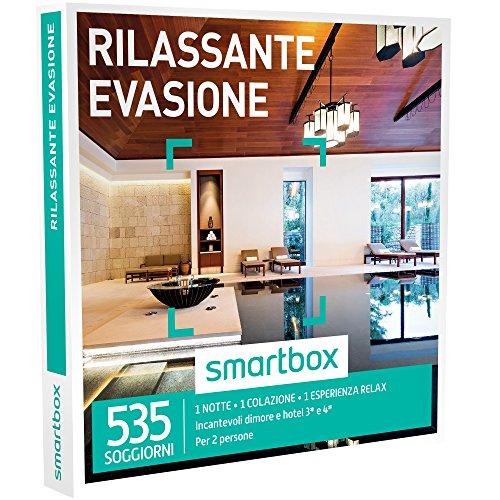 smartbox - Cofanetto Regalo - Rilassante EVASIONE - 535 soggiorni con Un'Esperienza Relax in dimore e Hotel 3* e 4*