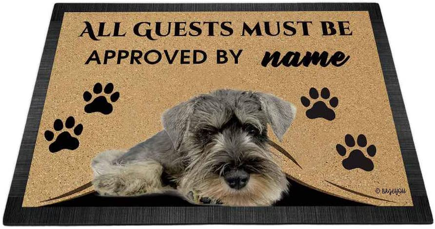 BAGEYOU All Guests Many All items free shipping popular brands Must be Approved Dog Love Sch with My Doormat