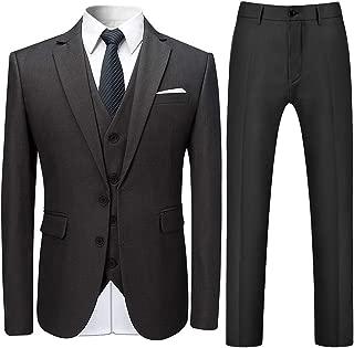 Mens Stylish 3 Piece Dress Suit Classic Fit Wedding Formal Jacket & Vest & Pants