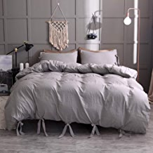 $23 » Beyonds Microfiber Pure 3 Piece Bed Set Gray Three Bed Set for Deeper Sleep Includes x1 Duvet Cover x2 Pillowcases - Home School Bed Decor
