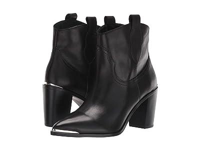 Steve Madden Zora Bootie (Black Leather) Women