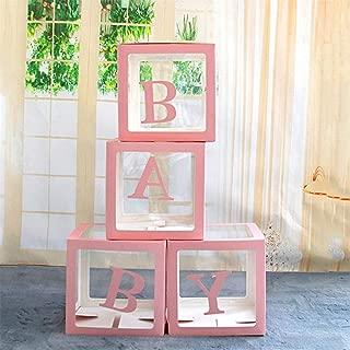 4ピース/セットDIY透明ボックスラテックスバルーンベビーブロック用男の子女の子ベビーシャワー結婚式誕生日パーティーの装飾背景