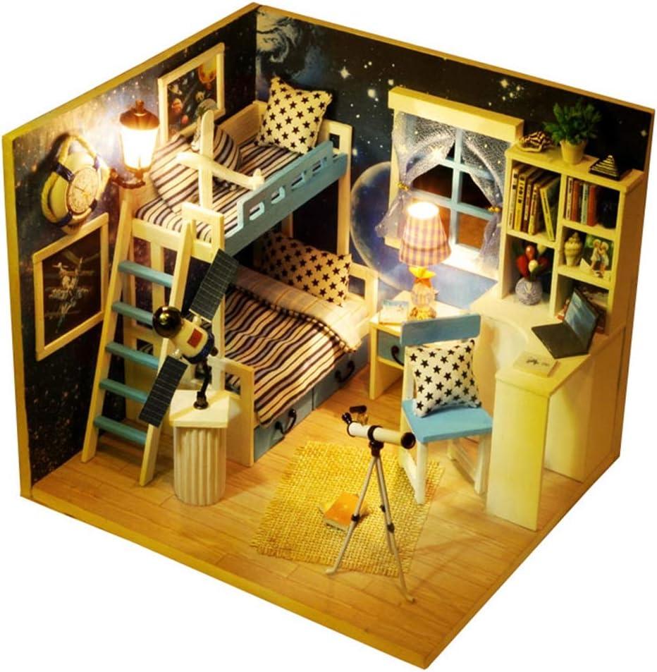 Oncefirst Regular dealer Wooden Dollhouse Miniatures Sales DIY Furnitu with House Kit
