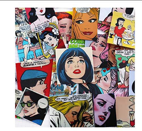 votgl Sticker 54 stks Vintage magazine dame Scrapbooking Stickers Decoratieve Sticker DIY Craft Photo Albums