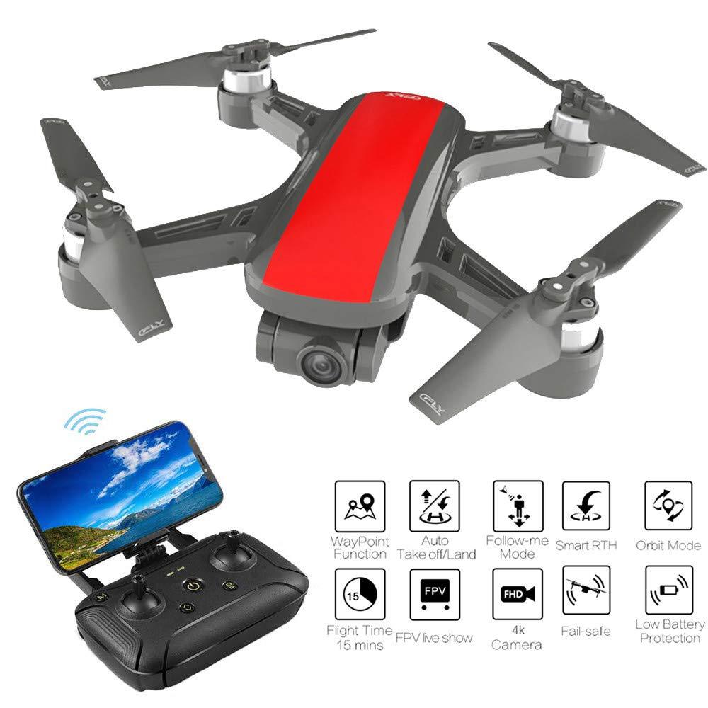 TwoCC Drone con Cámara,C-Fly Dream 4K Hd Gps Wifi Fpv con Cámara 2 Ejes Cardán Flow Óptico Avión Drone Quadcopter(Rojo): Amazon.es: Bricolaje y herramientas