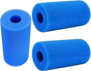 LEZED Filtro de Esponja Reutilizable para Piscina de Filtrado Filtro de Esponja de Espuma para Piscina Tipo A Esponja del Cartucho de Espuma del Filtro de la Piscina de hidromasaje 3 Piezas