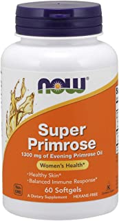 NOW Supplements, Super Primrose 1300 mg with Naturally Occurring GLA (Gamma-Linolenic Acid), 60 Softgels