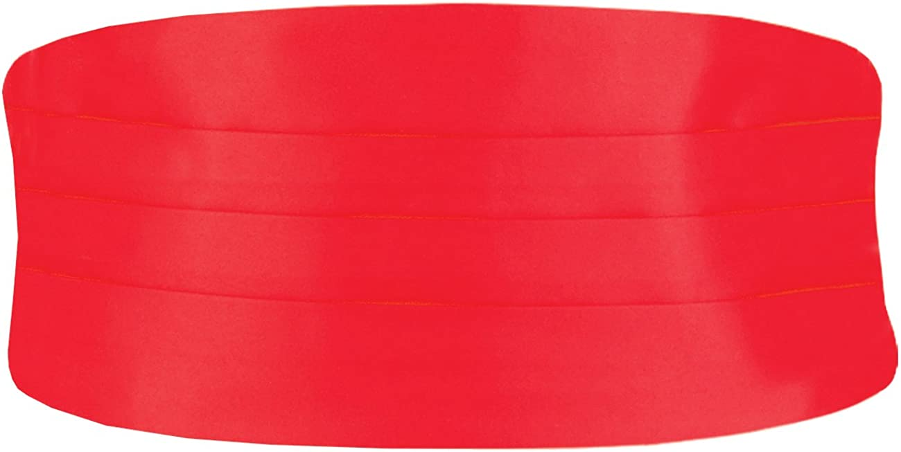 Dobell Mens Red Cummerbund Regular Fit (28-42in)