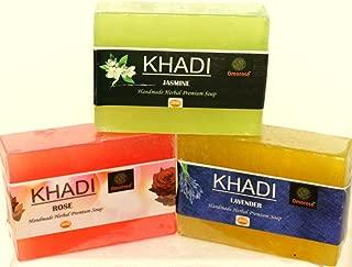 Khadi rose+lavender+jasmine Combo Pack 125 gm X 3