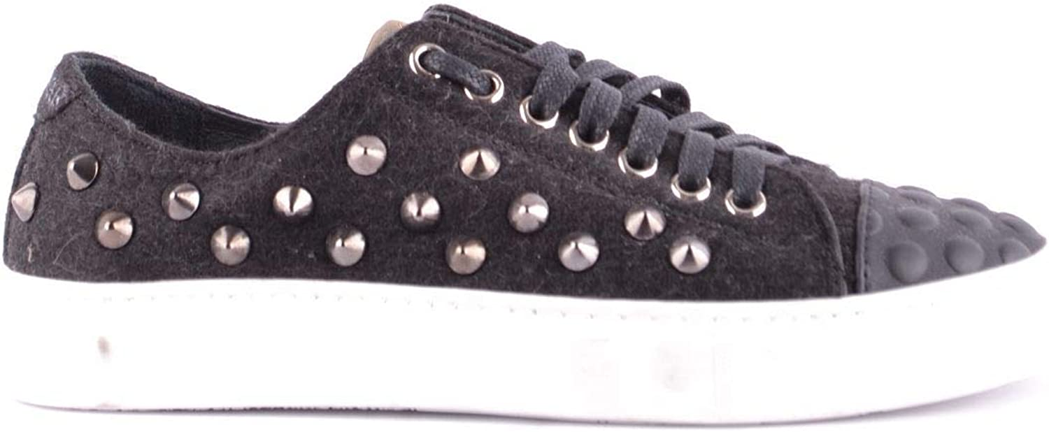 Studswar Women's MCBI32757 Black Fabric Sneakers