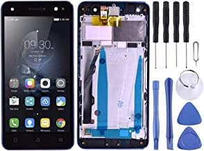 New LCD Screen and Digitizer Full Assembly with Frame for Lenovo Vibe S1 Lite S1LA40(Black) HuangFF (Color : Black)
