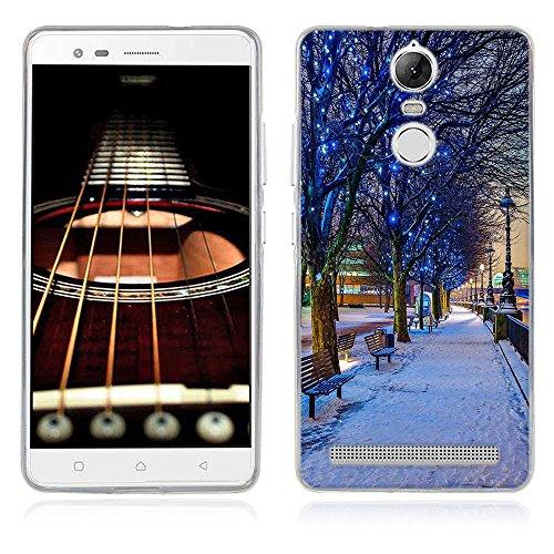 FUBAODA für Lenovo K5 Note Hülle, Schöne & romantische Landschaft Serie TPU Case Schutzhülle Silikon Case für Lenovo K5 Note / A7020