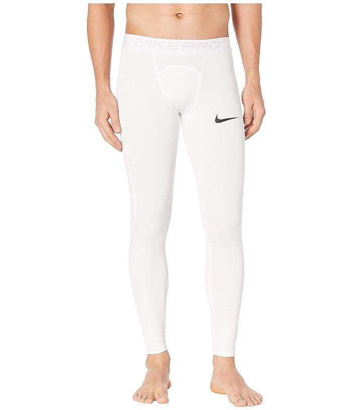 Nike   Pro Tights (White/Black) Mens Casual Pants