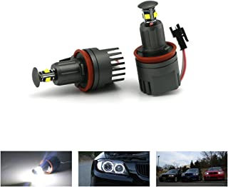 E92 H8 Angel Eyes, ZXREEK 40W H8 CREE 360-Degree Headlight Marker Halo Ring Light 6500K White For BMW Xenon LED Headlight Retrofits E60 E61 E92 E70 E71 E82 E89 1 3 5 Series X5 X6 Z4