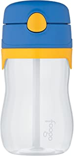 Thermos Foogo 11-Ounce Straw Bottle, Blue/Yellow