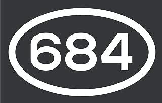 684 Area Code Sticker American Samoa Pago Pago Pago City Pride Love Vinyl Decal Sticker Car Waterproof Car Decal Bumper Sticker 5