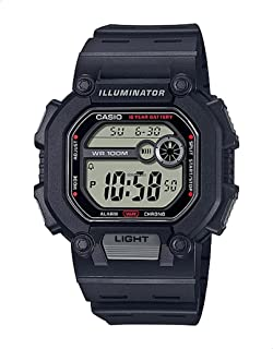 CASIO Youth Resin Band Digital Watch for Men - Black