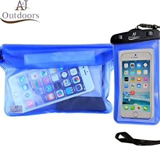 New! ANJ Outdoors 2PK Waterproof Phone Case and Waterproof Pouch/Durable, Lightweight & Touch Screen Friendly | Ideal Waterproof Bag/Waterproof Wallet for Pool, Beach, Boating and Fishing