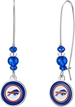 NFL Kidney Wire Hook Earrings | Sports Fan Jewelry Gift | Fashion Jewelry | Birthday & Holiday Gifts for Women and Girls