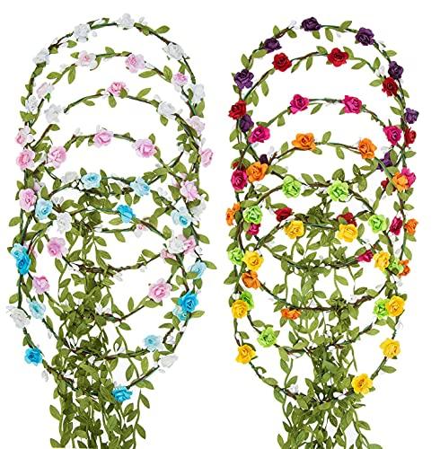 12 coronas de flores para el pelo, diadema, cinta para el pelo,...