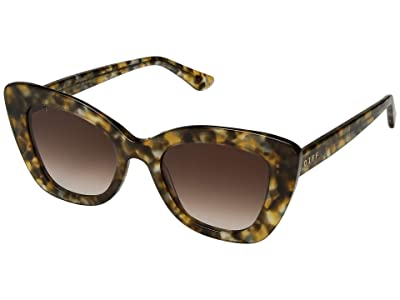 DIFF Eyewear Raven (Sea Turtle/Brown) Fashion Sunglasses
