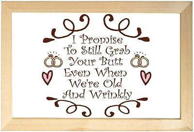 lmf379581 Always Kiss Me Goodnight Never Go to Bed Angry Bedroom D/écoration Murale Imprimable Cadeau de Mariage Citation au-Dessus du lit D/écorations de 2 palettes en Bois avec Cadre en Bois