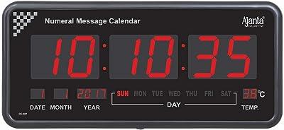 Ajanta Quartz Digital Wall Clock Large Size (20.7x10.1x2.7 Inch)(Large Size)(087)