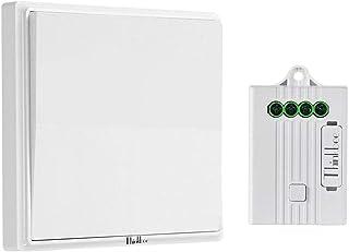 Light Switch, Thinkbee Wireless Wall Switch Kit with Receiver Waterproof Smart Wireless Switch No Battery No Wiring No Dri...