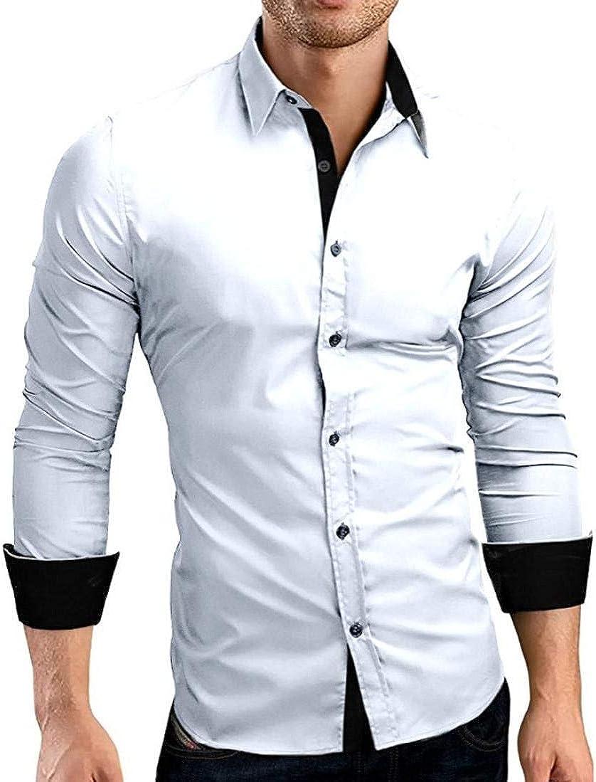 Camisa De Hombre Manga Larga Slim Fit Elegantes Camisas En ...