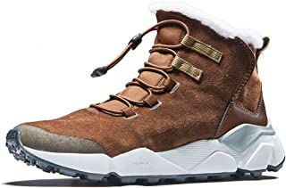 Men's Outdoor Anti-Slip Waterproof Snow Boot with Fur Lined Winter Warm Shoes