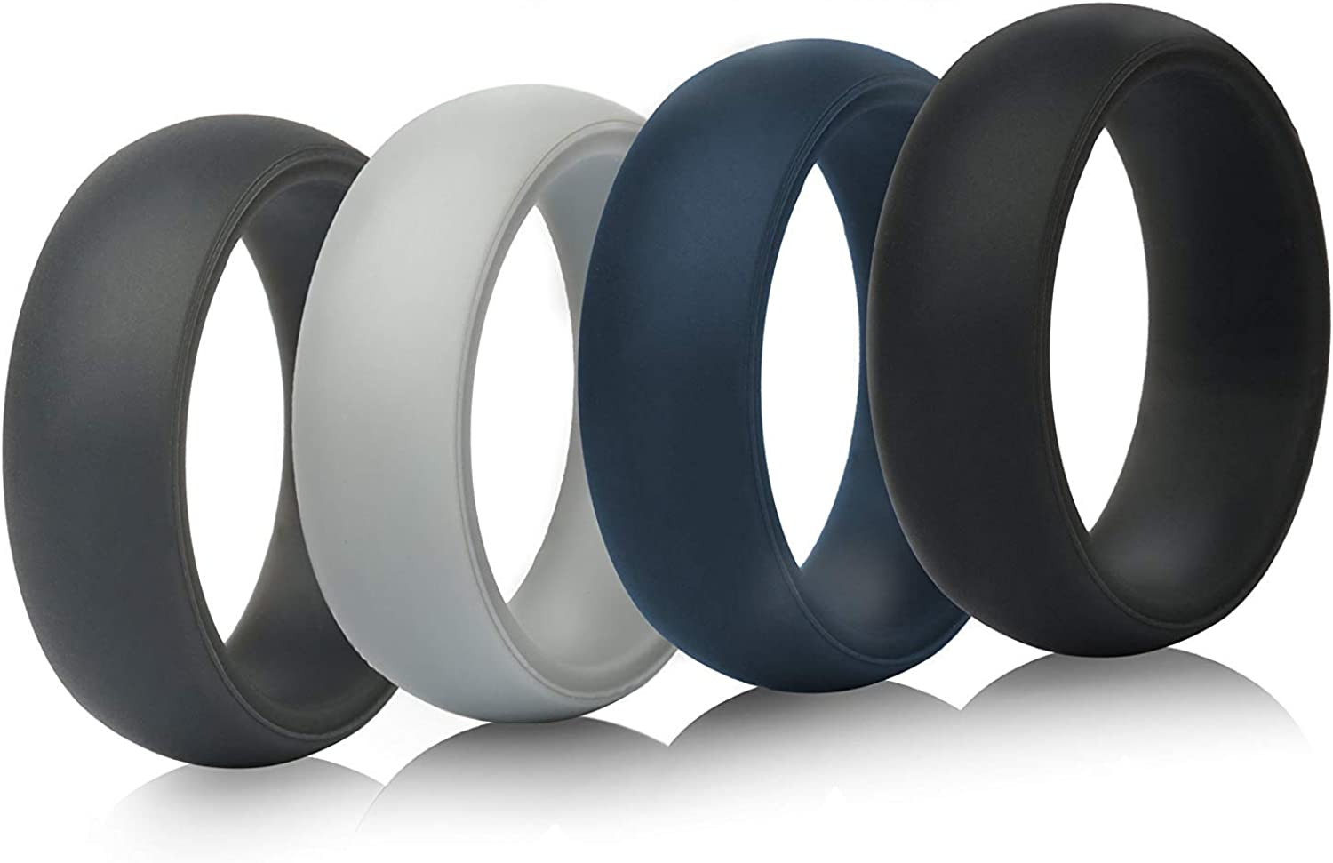 ThunderFit Max 90% OFF Mens Silicone Wedding Rings - Gorgeous Bands Pack 5