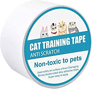 1Roll Cat Anti Scratch Training Tape Cat Furniture Protector Cat Sticky Paws Tape Cats Scratching Sticky Tape Double Sided...