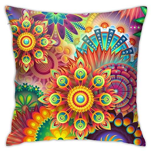 RETRUA Fundas de cojín geométricas abstractas coloridas fundas de almohada para el hogar, decoración para sala de estar, dormitorio, sofá silla, 45 x 45 cm