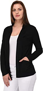 Riddle Women's Viscose Front Open Full Sleeve Shrug/Cardigan/Sweater/Jacket/Pullover/Hoodies