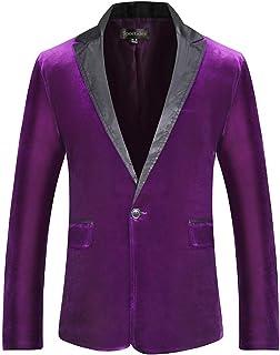 Sportides Men's Fashion Slim Fit Casual One Button Blazer Jacket Suits JZA127