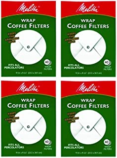 Melitta White Wrap Around Coffee Filter for Percolator (Pack of 4)